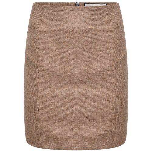 BROADWAY Tweed SKIRT Oatmeal