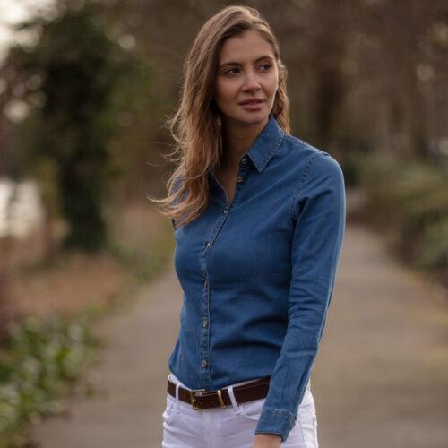 Kingham Shirt Denim Blue by Harris Rae